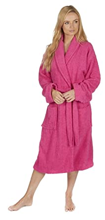 Forever Dreaming Ladies Towelling Dressing Gown Bathrobe  Amazon.co.uk   Clothing a22a30136