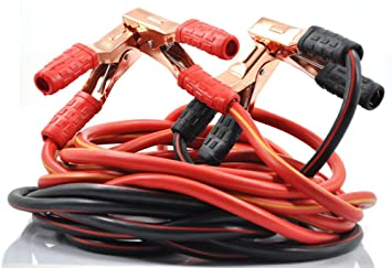 XINCOL Heavy Duty 1-Gauge Ultra 2500A 100% Copper Wire Jumper Cable ...