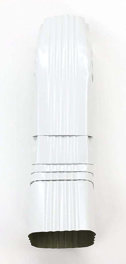Aluminum Offset Downspout Elbow 3x4 A Low Gloss White Amazon Com