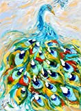 Original Oil Painting -- Pretty as a Peacock -- by Karen Tarlton