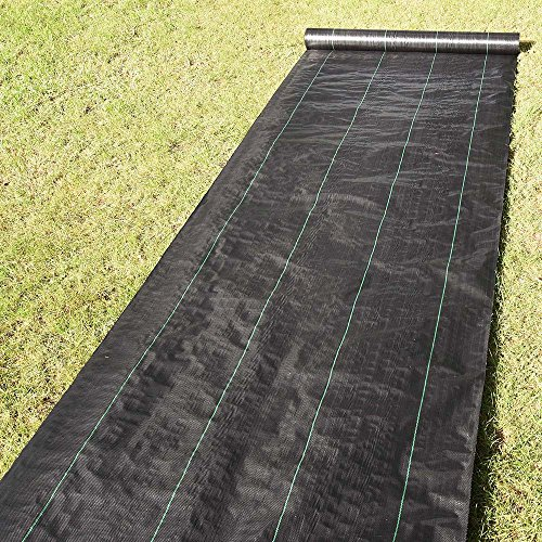 4' Block (Yescom 4ft x 250ft Landscape Fabric 4.1oz Weed Barrier Woven PP with UV Treated Block Mat Ground Cover Outdoor Garden)