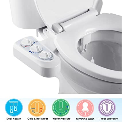 Remarkable Non Electric Bidet For Toilet Self Cleaning Dual Nozzle Bidet Attachment Hot And Cold Water Spray Bidet Mechanical Water Toilet Bidet Sprayer Kit Ibusinesslaw Wood Chair Design Ideas Ibusinesslaworg