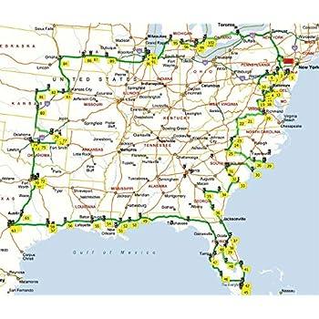 Amazon.com: Home Comforts Laminated Map - Map USA Canada East Coast ...