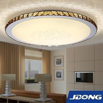 jdong moderna lmpara redonda w led para techo diamante style saln dormitorio comedor brillo