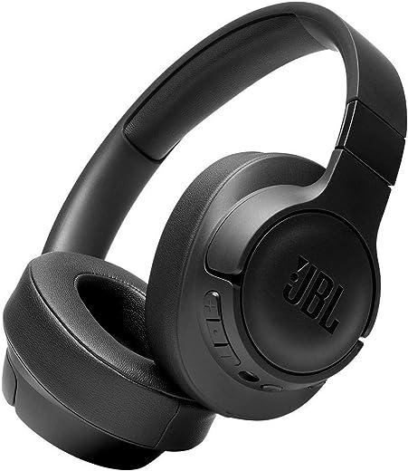 JBL T750BTNC Over-ear hoofdtelefoon, draadloos, Bluetooth, actieve ruisonderdrukking, lichte beugelhoofdtelefoon met tot 15 uur batterijduur en afneembare kabel, zwart