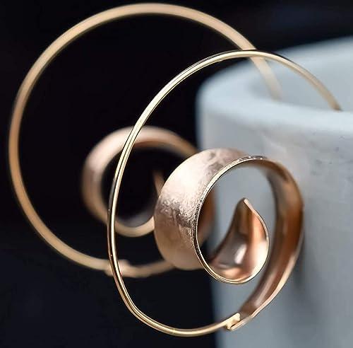 Ohrringe Spirale Hängend Rose Vergoldet 925 Sterling