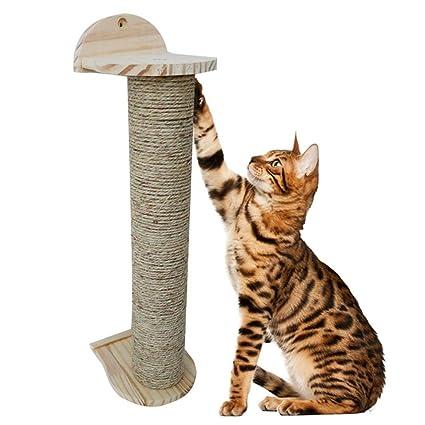 Mlec tech Árbol Rascador para Gatos con Poste Rascadore Estabilidad con Columna de Sisal Natural,