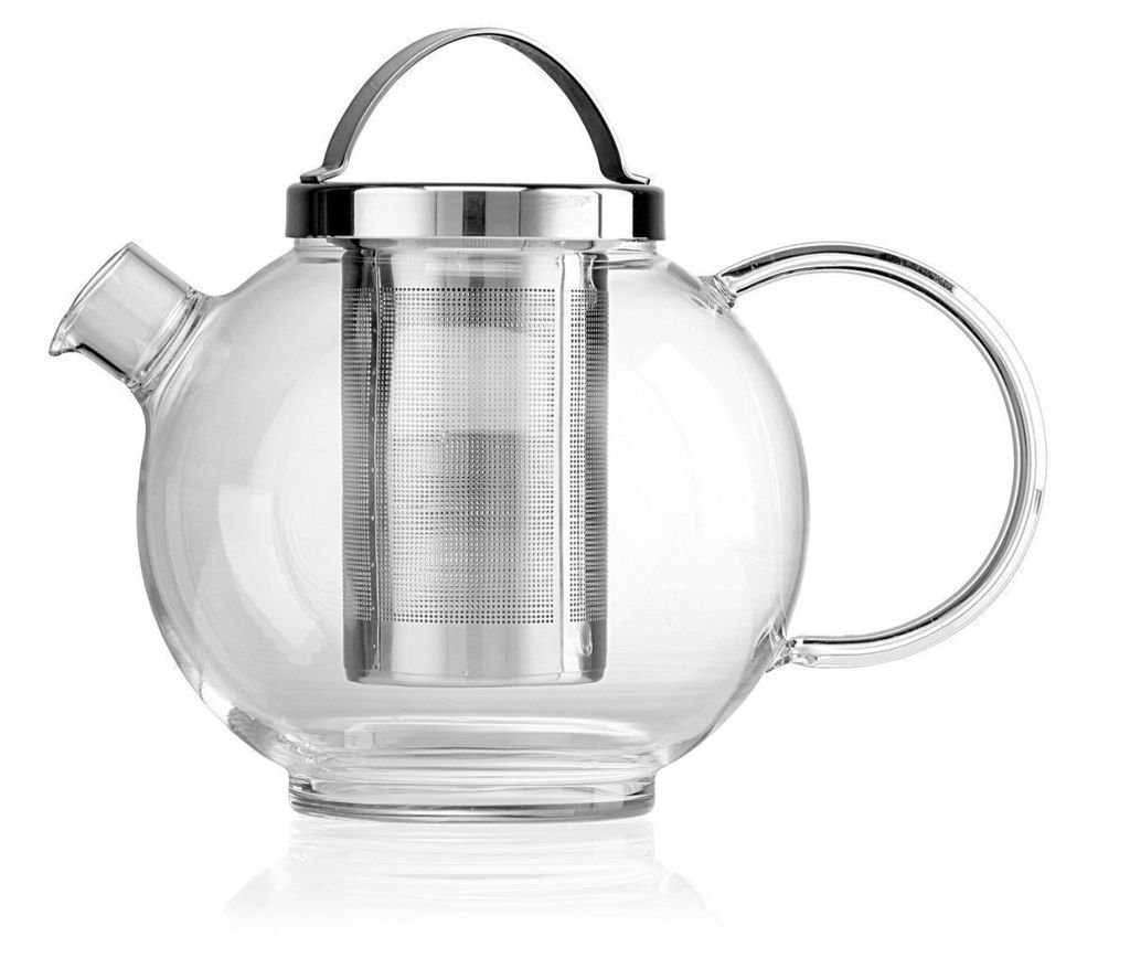 'Darjeeling' 1000ml Clear Glass teapot with stainless steel infuser and lid La Cafetiere