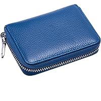 BESTOYARD Credit Card Case Travel Wallet Coin Purse Card Holder for Men Women (Blue)