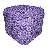 Design Accents Funberry Squared Hand Woven Pouf, Grape