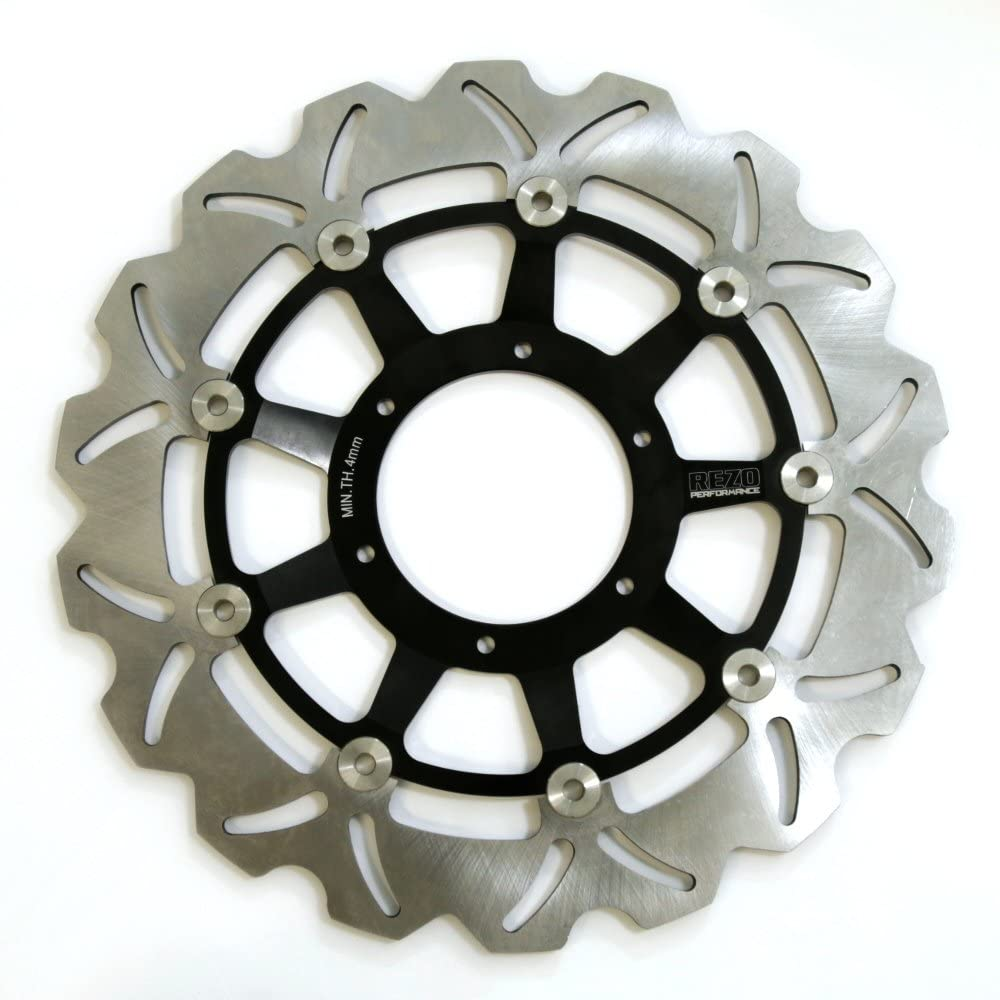 Pair Rezo Wavy Stainless Front Brake Disc compatible with CBR 929//954 RR Fireblade