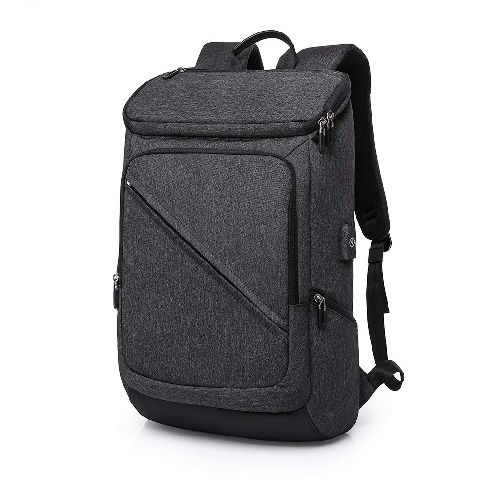 17 Inch Laptop Backpack, Travel Water Resistant Backpack with USB Charging Port, Anti-Theft College School BookBag Computer Backpack for for Men Womens Boys Girls, Black