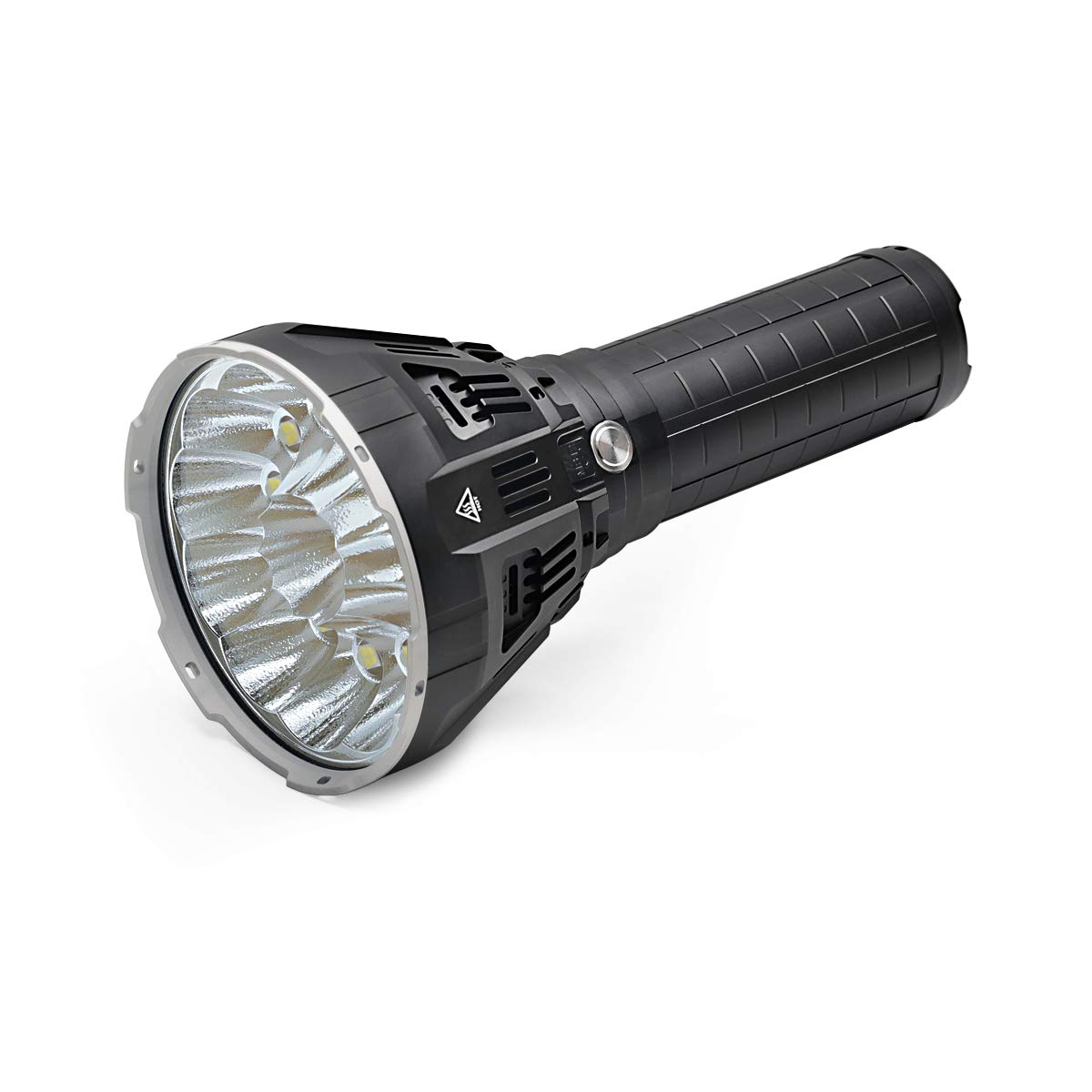IMALENT MS12 Brightest Flashlight 53000 Lumens, Super Bright Rechargeable Torch Searchlight with 12 Pieces CREE XHP70 LEDs, Built in Cooling Fan, Long Beam Distance 913 Meters