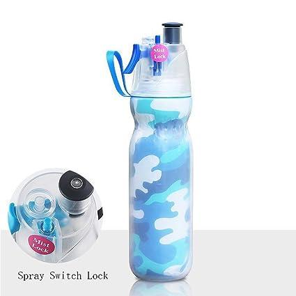 Flower205 Botella de agua deportiva - 590ml- Diseño de doble capa fría, a prueba