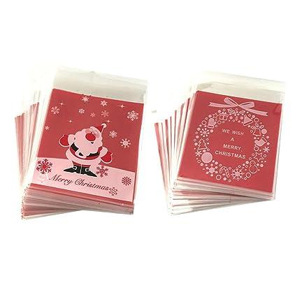 SALIFTY - 200 bolsas de regalo de Navidad para fiestas ...