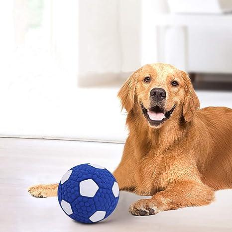 Ruixia Pelota de juguete para perro con forma de rugby/fútbol, de látex, suave, para cachorros, juguetes flotantes, resistentes al desgaste, para perros pequeños, medianos y grandes: Amazon.es: Productos para mascotas
