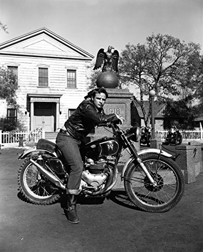 Marlon Brando The Wild One Motorcycle Poster Art Photo Holly