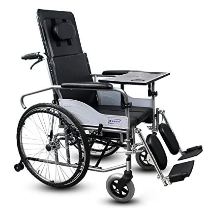 Amazon.com: QETU High Back Reclining Wheelchair - Detachable ...