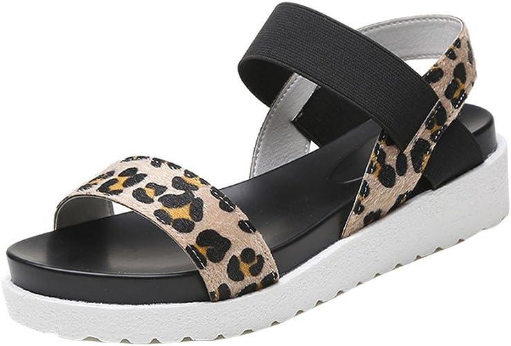 iYBUIA Platform Wedge Sandals for Women Solid Peep Toe Shoes Ladies Sandals