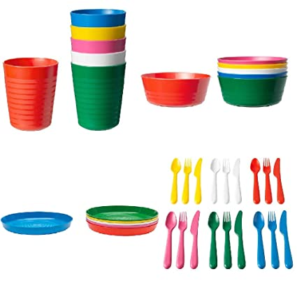 Ikea New Kalas Children Mug Pack of 6 Assorted Colour Kids Plastic Mug