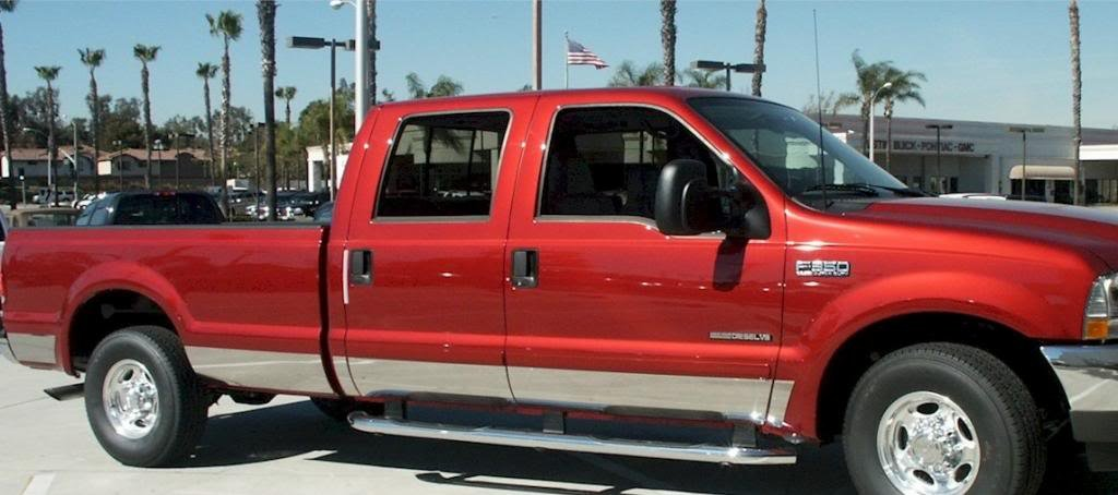 QMI 2-235055 Stainless Steel Mirror Finish 6 Inch Wide Fits From Body Side Molding Down Installs With Double Sided Tape