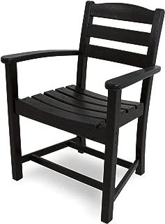 product image for POLYWOOD TD200BL La Casa Café Dining Arm Chair, Black