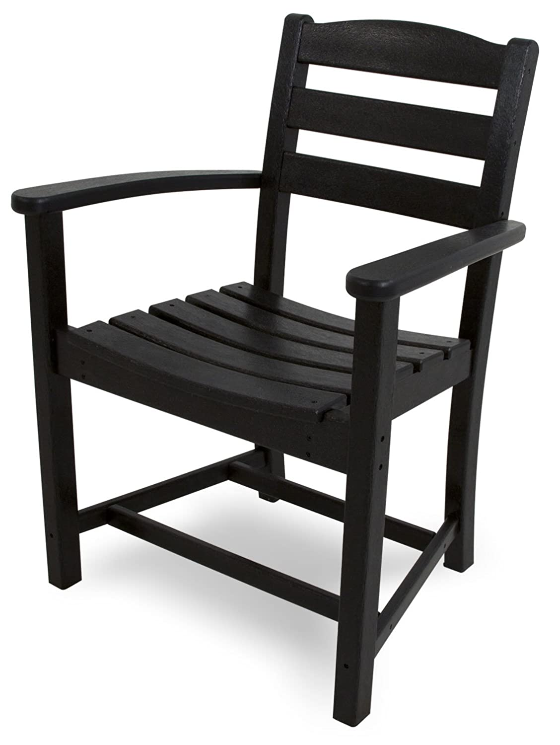 POLYWOOD TD200BL La Casa Caf Dining Arm Chair, Black