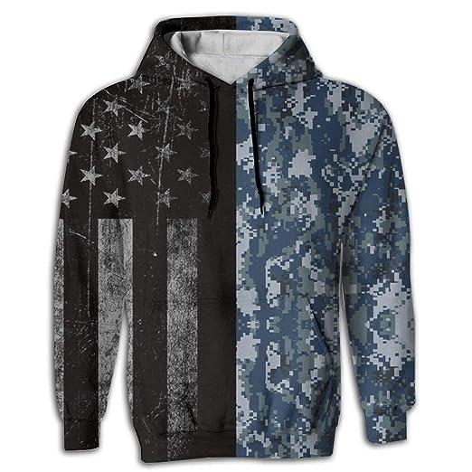 Amazon.com  wu wen jin Navy CAMO Men s 3D Pullover Long Sleeve Hoodies  Sweatshirt Tops  Clothing b9c7e42b163
