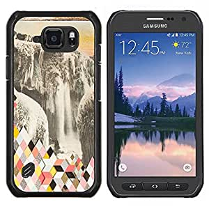 Stuss Case / Funda Carcasa protectora - Resumen Polígono Glaciar - Samsung Galaxy S6 Active G890A