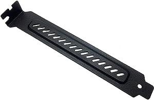 upHere 10pcs Black PCI Slot Cover Dust Filter Blanking Plate Hard Steel