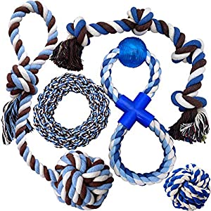 Otterly Pets Puppy Dog Pet Rope Toys - Medium to Large Dogs (5-Pack) 10