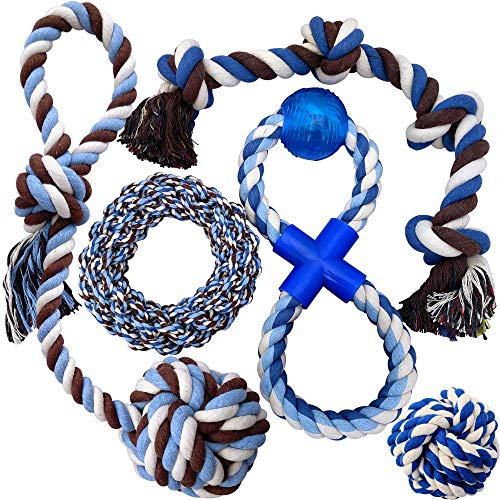 - Otterly Pets Puppy Dog Pet Rope Toys - Medium to Large Dogs (5-Pack)