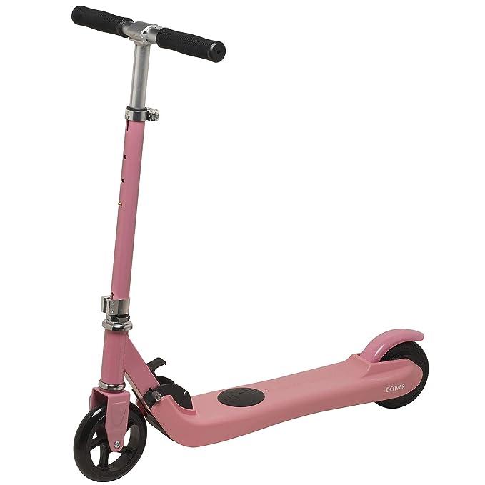 Denver SCK-5300 Pink Kickscooter para Niños con Motor Eléctrico, 100 W, Rosado