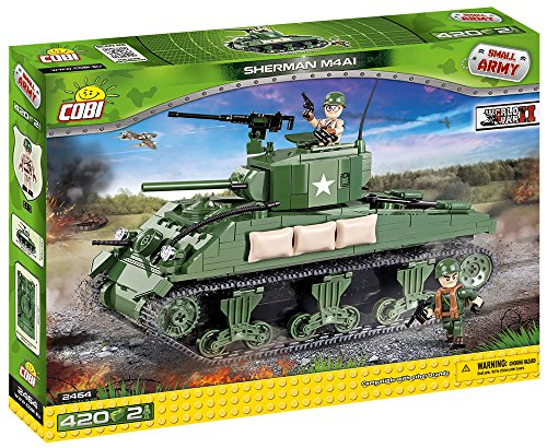 COBI Small Army WW-Sherman M4A1 Tank Building Kit (Tank Lego)