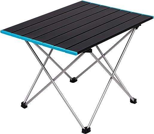 Aluminum Folding Portable Small Desk Outdoor Picnic Camping Table PC Desk-50/%OFF