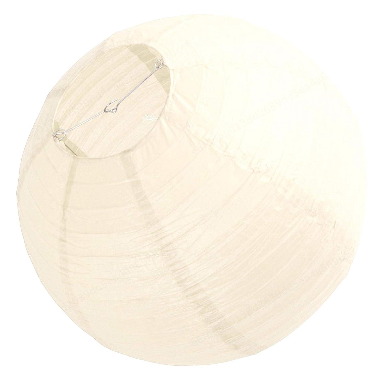 TRUUA Paralume di Lanterna di Carta Cinese 40 cm per Lanterna di Carta Bianco Panna per Matrimonio di Nozze 1 Set