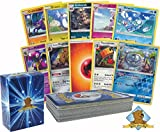 Pokemon 50 Card Lot Featuring all Sun and Moon Cards! Includes 5 Random Alolan Form Pokemon Cards! Rares, Foils, and Energy!