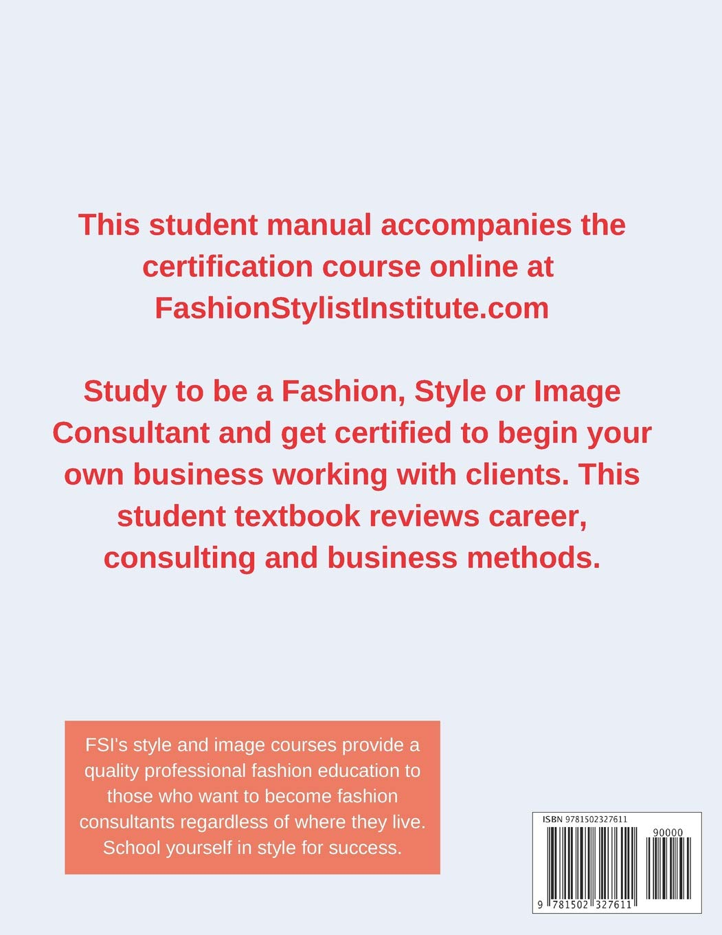 Fashion Style And Image Consulting Textbook Manual Gillian