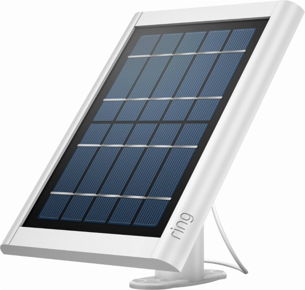 Ring Solar Panel White - Compatible with Ring Spotlight Cam Battery and Stick Up Cam Battery