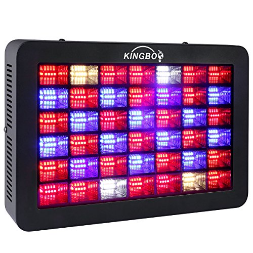 KINGBO 600 Watt Full Spectrum LED Grow Light H-Series LED Plant Grow Lights for Indoor Plants Hydroponics Flower Greenhouse Grow with Daisy Chain