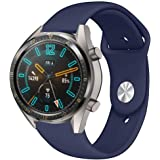 Smart Watchband Silicone Sports Replacement Watch Band WristStrap For Huawei Watch GT SmartWatch Dark Blue