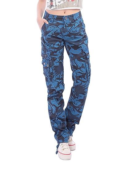 1e3686876615 OCHENTA Femme Pantalon Cargo Poche En Coton Camouflage Combat  Amazon.fr   Vêtements et accessoires
