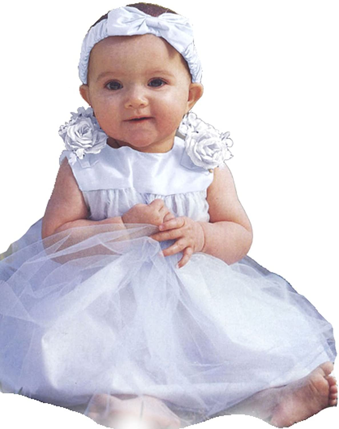 Amazon Infant Baby Girl Formal Party Silk Top Dress 302