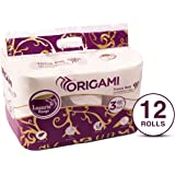 ORIGAMI Luxuria 3 Ply Toilet TIssue Roll - 140 Pulls (Pack of 12)