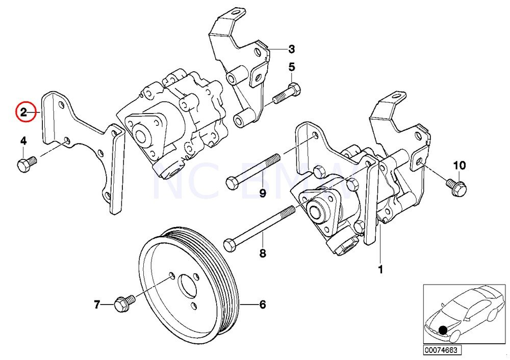 Amazon Com Bmw Genuine Front Vane Pump Bracket Automotive