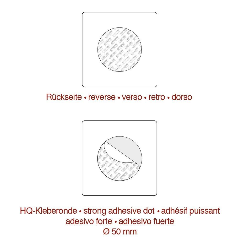 """OFFORM Targa autoadesivo in acciaio inox 85x85 mm No.8926 /""""Toilette Donne/"""""""