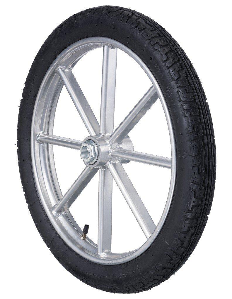 Tough-1 Driving Cart Wheel Heavy Duty Solid Spoke Wheel Silver 74-24