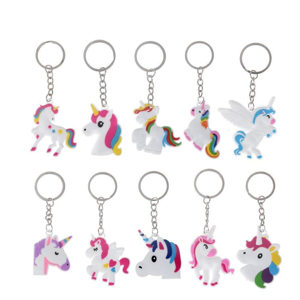achat 10pcs Licorne Porte-Clés Unicorn Design Accessoires de sac Pendentif Porte-clés pour femmes Enfants Filles pas cher prix