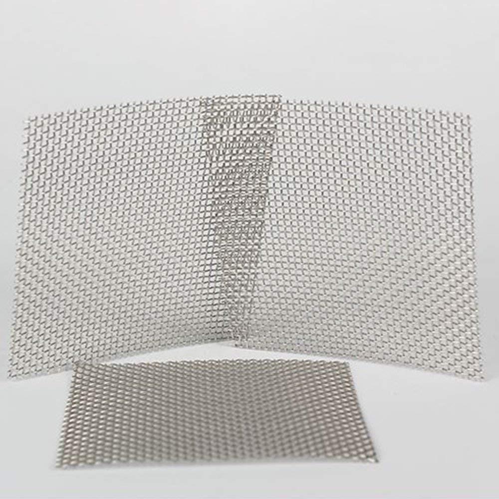BFHCVDF Grigio Ferro del Foro dello Strato 1mm della Maglia del Metallo 8 8cm della Maglia Metallica Tessuta Filo dellAcciaio Inossidabile