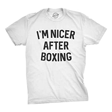 a7dd5de4e0d02b Crazy Dog T-Shirts Mens Im Nicer After Boxing Tshirt Funny Sarcastic  Fitness Punching Bag